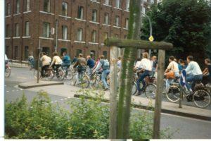 Meng Kommilitonen um Velo 1988