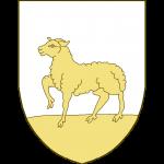 Un agneau passant sur une terrasse.