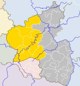 Übersicht der Landkreise die behandelt werden sollen