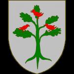 D'argent à l'arbre arraché de sinople, dans les branches trois perdrix de gueules posées 1 et 2, celles d'en bas affrontées.