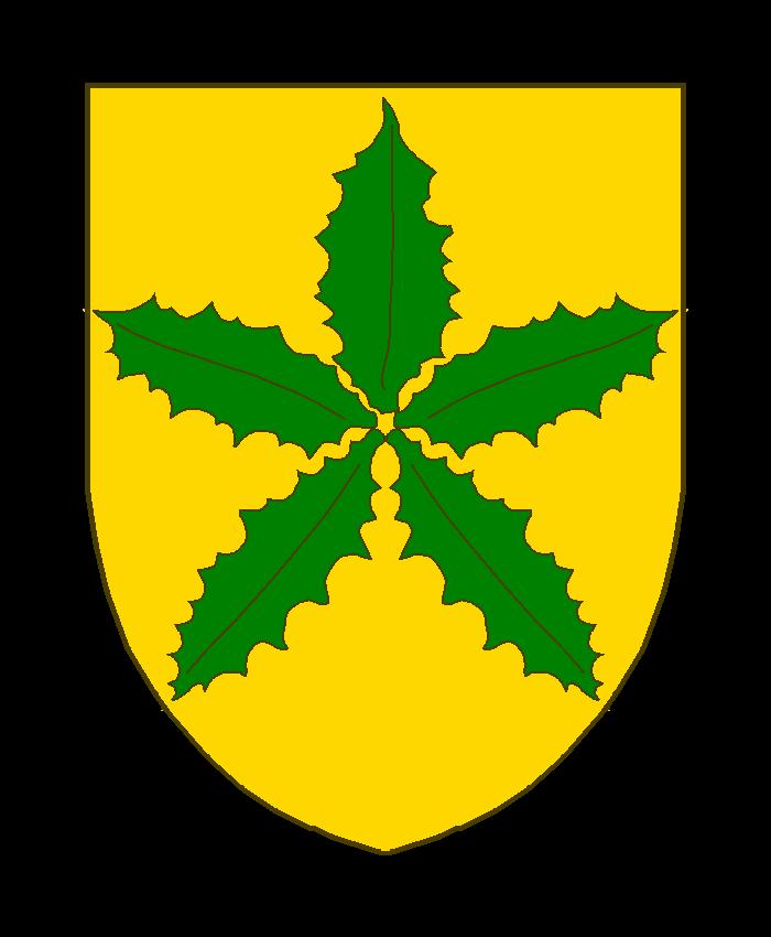 D'or à cinq feuilles de bouleau de sinople, s'entretouchant en abîme et disposées en forme d'étoile.