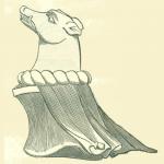 Crest of Sir Humpbrey Stafford, from his Effigy.