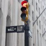 Verkehrsampeln an der Wallstreet
