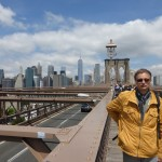 Ich, auf der Brooklyn Bridge (bereits in Brooklyn)