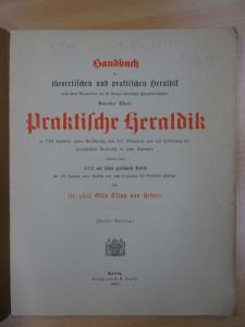 "Das Deckblatt ""Praktische Heraldik"""