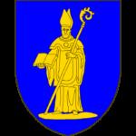 Blason:D'azur à un Saint Lambert, mitré, debout sur une terrasse, tenant de la dextre un livre ouvert et de la senestre une crosse posée en barre, le crosseron vers l'exterieur, le tout d'or.