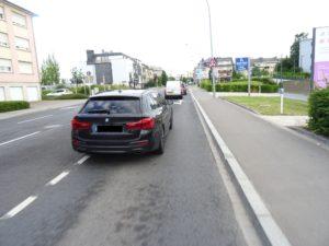 Strasse rue Federspiel mit Autos