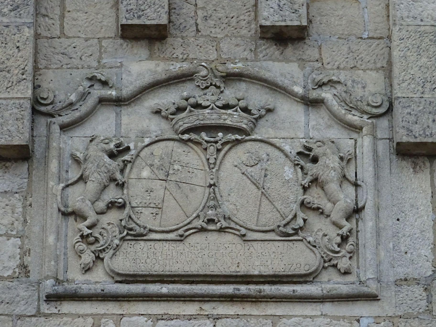 Wappen an der Kirche von Limpach