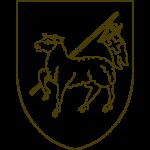 Eine Vorlage für ein Lamm mit Kreuzfahne