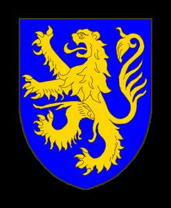 D'azur au lion d'or