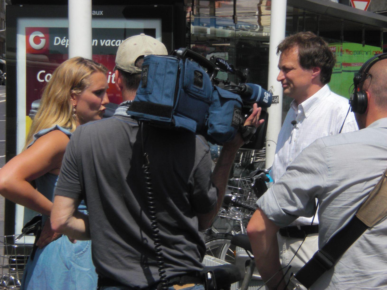 Am Montag war ich im Fernsehen