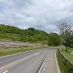 Der provisorische Radweg