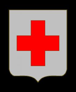 Für mich sieht das vielmehr nach einem gewöhnlichen Croix alésée, dem Schweizer Kreuz aus. Aber HGG meinte, hierbei handele es sich um eine croix haussée.