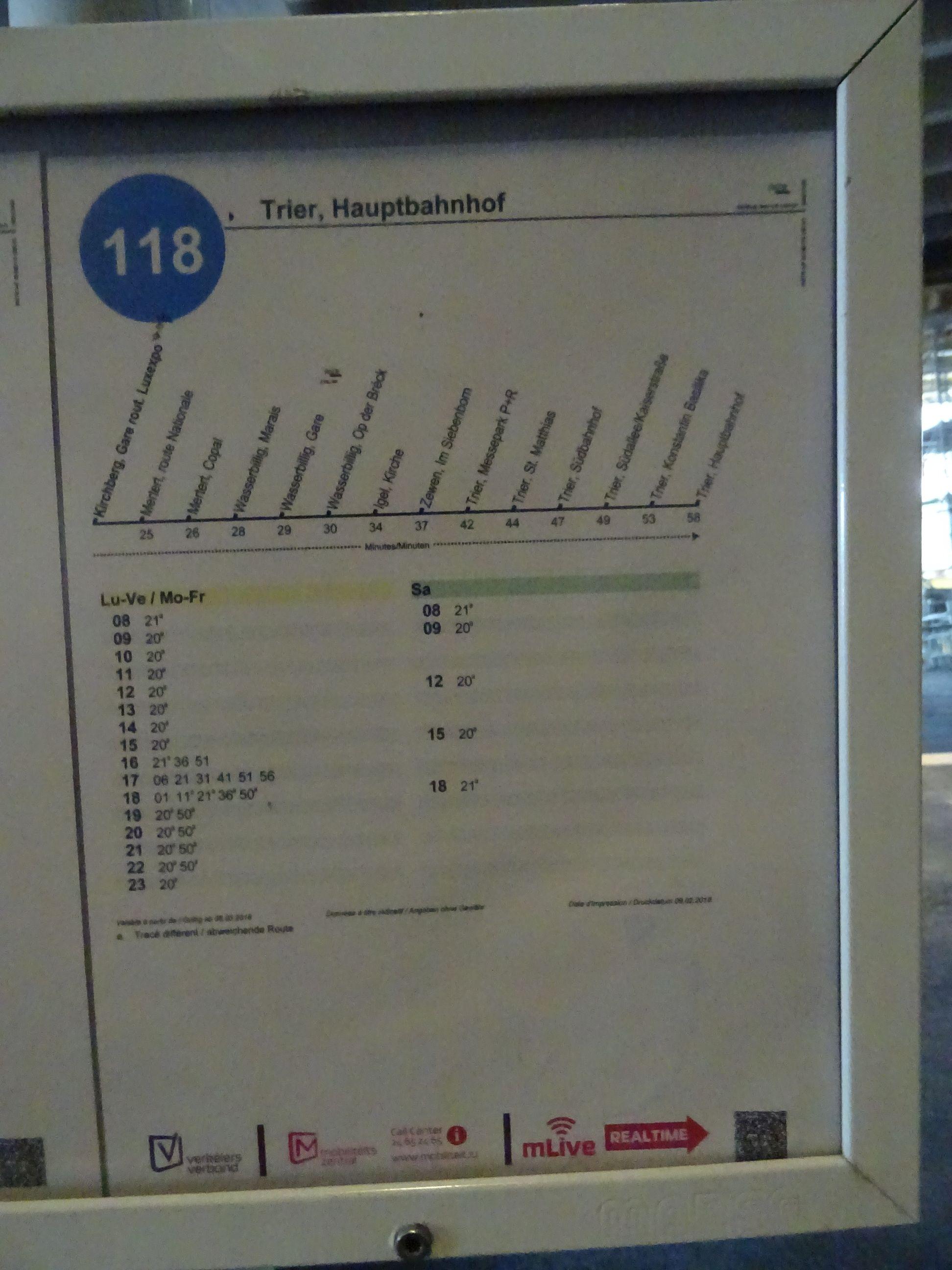Tschüss alte Linie 118