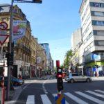Rote Fahrradampel in der Avenue de la Gare