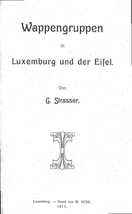 """Aufsatz """"Wappengruppen in Luxemburg und der Eifel"""" von 1917"""