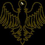 Eine Vorlage für einen gestümmelten Adler